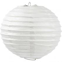 lampion rijstpapier 20 cm wit per stuk
