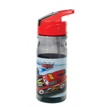 drinkfles Cars junior 500 ml transparant/rood