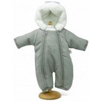 babypop sneeuwpak meisjes 42/46 cm polyester grijs