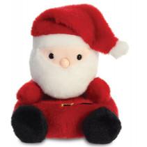knuffel Palm Pals kerstman 13 cm pluche rood/wit