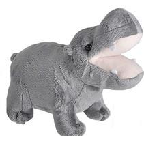 knuffel nijlpaard 20 cm grijs