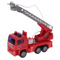 brandweerauto ladderwagen jongens 25 cm rood