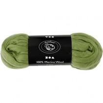 wol Merino 21 micron cactus-groen 100 gram per bol