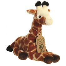 knuffel Eco Nation giraf 21,5 cm pluche bruin
