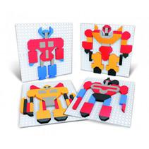 puzzelkunst Robots 11 x 11 cm junior 357-delig