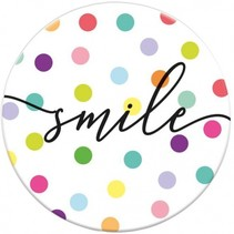 magneet Smile 5,5 cm rond
