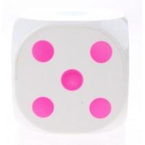dobbelsteen met licht 6 cm wit
