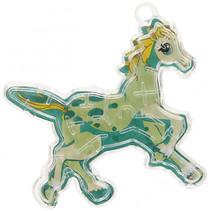 geduldspel doolhof paard junior 6 x 7 cm donkergroen