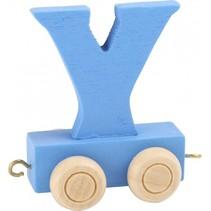 treinletter Y blauw 6,5 cm