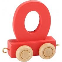treinletter O rood 6,5 cm