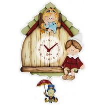 wandklok Pinokkio junior 26 x 37 cm hout