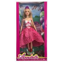 tienerpop Annabelle meisjes 30 cm fuchsia