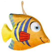 knuffelvis junior 18 x 13 cm pluche oranje