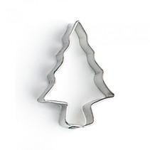 uitsteekvorm dennenboom 4 x 3 x 1 cm blank staal