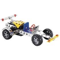 bouwpakket racewagen 93-delig blauw/geel