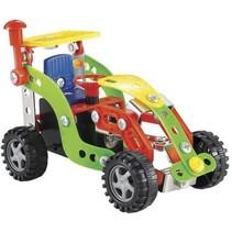 bouwpakket tractor 93-delig rood/groen