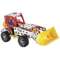 bouwpakket graafmachine 114-delig rood/geel