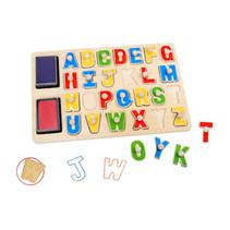 stempelpuzzel alfabet junior 29 x 21 cm hout 29-delig