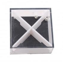 geduldspel in kubus met 4 balletjes 3,5 cm wit