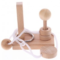 denkpuzzel hout paal met bol