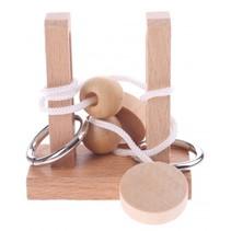 denkpuzzel hout 2 palen