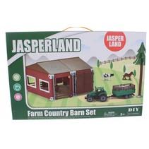 bouw- en speelset boerderij met stal en tractor 50-delig