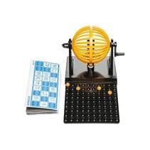 bingospel 14 x 12 cm zwart/oranje 104-delig
