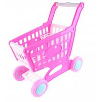 winkelwagentje meisjes 33 x 16 cm roze 39-delig