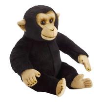 knuffel chimpansee junior 31 cm pluche zwart