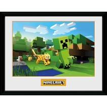poster in lijst Minecraft Ocelot Chase 30 x 40 cm