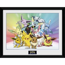 poster in lijst Pokémon Eevee 30 x 40 cm