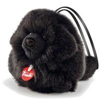 knuffel hond zwart 11 cm