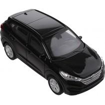 schaalmodel Hyundai Tucson 1:34 zwart 11 cm
