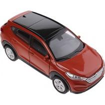 schaalmodel Hyundai Tucson 1:34 oranje 11 cm