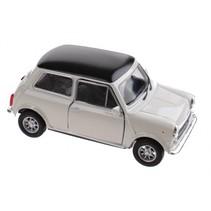 schaalmodel Mini Cooper 1300 wit 10 x 5 x 4 cm