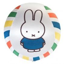 speelbal Miffy - Nijntje satijn 12,5 cm wit/streep