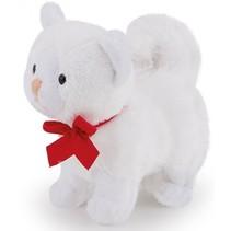knuffel kitten wit 9 cm