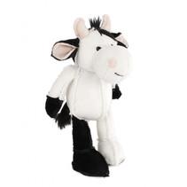 knuffel koe pluche 17-26 cm zwart/wit