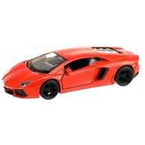 Lamborghini Aventador sportauto oranje 10,5 cm