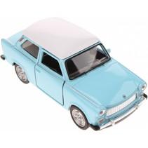 schaalmodel Nex Trabant die-cast 7 cm lichtblauw