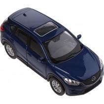 schaalmodel Mazda CX-5 1:34 blauw 11 cm