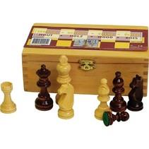 houten schaakstukken 8,3 cm