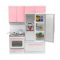 poppenkeuken Lauren Deluxe met licht en geluid roze/grijs