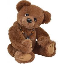 knuffelbeer Teddy Rupert junior 42 cm pluche donkerbruin