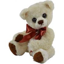 knuffelbeer Teddy Franka junior 30 cm pluche wit