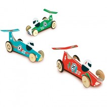 rubber band racewagens bouwset