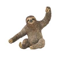 speeldier luiaard Sloth 8,4 x 8,1 cm ABS bruin