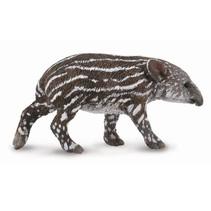 wilde dieren: Tapir kalf 6 cm donkerbruin/wit