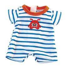 poppenkleding pyjama wit/blauw