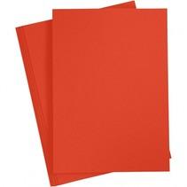 karton rood A4 180 gram 20 vellen